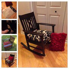 Pillow Talk! By SycamoreHomeGirl. Old chair + old pillow case = gossip rocker!