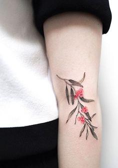 Hongdam flower tattoo