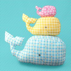 Stuffie WHALE pdf pattern van happysewluckyshop op Etsy