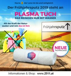 Spring cleaning without chemicals thanks PLASMA FABRIC!  Frühjahrsputz ohne Chemie dank PLASMA TUCH!
