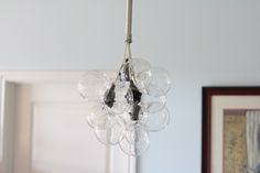 How to Make your Own DIY Glass Bubble Chandelier