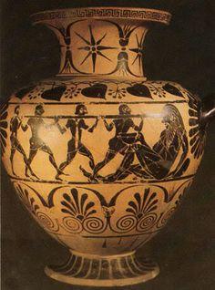 Odysseus blinds the Cyclop, Magna Grecia- 520 BCE -