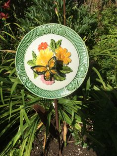 Glass Garden Flowers, All Flowers, Thrifting, Repurposed, Decorative Plates, Recycling, Create, Home Decor, Decoration Home