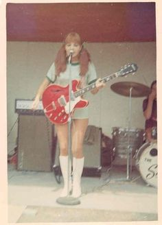 TheDebutantes,on stage in Vietnam during the 1969 USO tour.