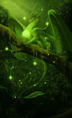 Forest dragon Mystical and magical. the most common type of dragon, friendly but hard to spot as their colouring ranges from fresh greens to the red yellow and orange of their habitat. --- Many say that they are the true spirit of the forest. Fantasy, Fantasy Art, Dragon Artwork, Mythical Creatures, Mystic, Art, Dragon Art, Faeries, Dragon Pictures