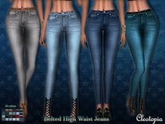 I have personally handdrawn these textures from scratch and they turned out to look really smooth and nice ingame. I especially like the pockets and the way the belts look on the jeans. I only...