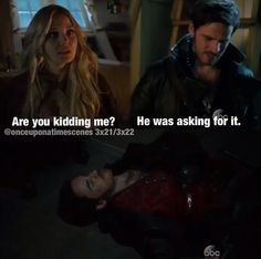 Haha Hook getting jealous of past Hook. CaptainSwan.