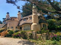 One of the many amazing houses on the scenic road of Carmel-by-the-sea