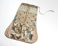 18th Century Block Print Pocket, 1785-1800, NY, Jan Whitlock Textiles & Interiors, West Chester, PA