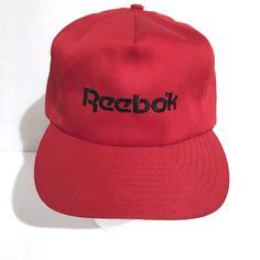 57c9c3ae16b Reebok Baseball Hat Adjustable Red Cap Mens  fashion  clothing  shoes   accessories
