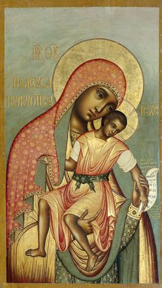 Our Lady of Eleus by Simon Ushakove is a wonderful example of a Black Madonna Religious Icons, Religious Art, Virgin Mary, Russian Icons, Blessed Mother Mary, Byzantine Icons, Holy Mary, Madonna And Child, Madonna Art