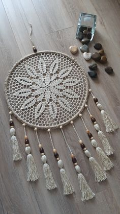 Crochet Doilies, Dream Catcher, Macrame, Wall Decor, Knitting, Easy Crafts, Create, Cushions, Bricolage