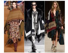 20 trends for Fall/Winter 2014-2015 Poncho Etro Barbara Bui Burberry Prorsum | cynthia reccord