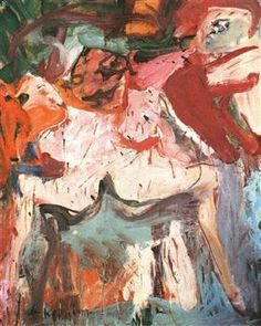The Visit, Willem de Kooning, Expressionismo Abstrato. Willem De Kooning, Action Painting, Painting & Drawing, Expressionist Artists, Art Database, Jackson Pollock, Artist Art, Guernica, Painting Inspiration