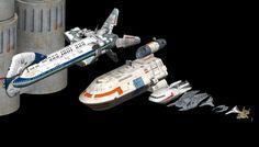 Battlestar Galactica, SIze Comparison, Pegasus, Science Fiction Models