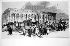 Cambridge station in the 1850s