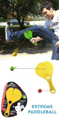 A reinvention of the paddleball, this not-your-dime store game.