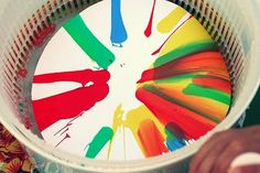 Salad bowl spinner art  ***one of my kids' favorite art activities!***