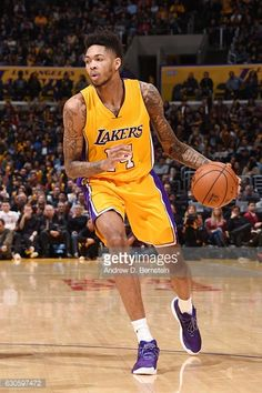 baa07868a6b Brandon Ingram of the Los Angeles Lakers handles the ball against the.
