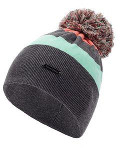 Freestyle Bobble Hat - GraniteGreyMintCoralCandyWhite | ski | Sweaty Betty
