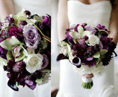 blackmore's night,under a violet moon,le bouquet du vendredi,mariages 2012,mariée 2012,mariée,bouquet de mariée,bouquet vert d'eau et pourpre,cattleyas verts,roses mauves,callas noirs,gardénias blancs,dahlias violets