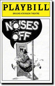Noises Off Playbill Covers on Broadway - Information, Cast, Crew, Synopsis and Photos - Playbill Vault   Patti Lupone