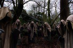 Halloween Ghost Costume Statues