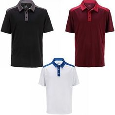 Woodworm Tour Performance V3 Mens Golf Polo Shirts 3 Pack XL