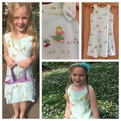 Oliver + S seashore dress. Aneela Hoey Posy Meadow fabric - perfect for my little bookworm.