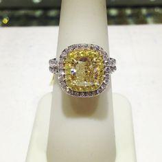 Fancy Yellow Diamond engagement ring! Create your very own Fancy Yellow Diamond Engagement ring Only at Arik Jewelry