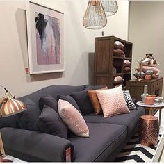 Ooh la la - we are crushing over our Australian made Coco sofa styled with copper, blush, pastels and monochrome homewares. Create this on-trend look in your living space ! Final days to save BIG with 25% off in-store and online on all furniture and homewares, must end tomorrow! #ozdesign #ozdesignfurniture #coco #australianmade #sofas #fabric #interiors #interiorstyling #homefurnishings #homewares #homedecor #copper #pastels #copper #blush #realliving #reallivingmag #styling #design #style…