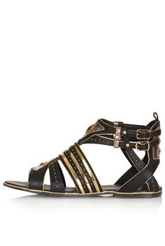 FRANCINE Gladiator Sandals from Top Shop. These are look like She-Ra Warrior Princess sandals. #warriorsandals #shera #tennisshoesandals