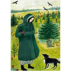 Dee Nickerson, A Treat For The Dog, Art Card