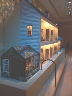Tasha Tudor - Her Beautiful Dollhouse Love the attached conservatory!  This is the doll house on display at Williamsburg.