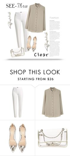 """""""It's All Clear Now"""" by bliznec ❤ liked on Polyvore featuring Basler, MANGO, Gianvito Rossi, Chanel, clear, polyvorecontest and Seethru"""