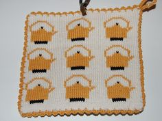 Pot Holders, Knit Crochet, Textiles, Knitting, Projects, Fictional Characters, Kitchen, Crafts, Clothes