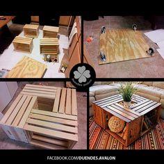 DIY mesa de centro de cajas
