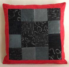 """Cuscino decorativo patchwork 55x55 cm (22""""x22""""), PEZZO UNICO velluto e tela tappezzeria. Con zip nascosta. - Pillow patchwork 22""""x22"""" unique di RITALYstyle su Etsy"""