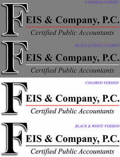 #graphicdesign #layoutservices #designservices #SignaramaColorado #Signs #colorado #designingsigns #logos #logodesigns Logo Design for Feis & Company, P.C. Certified Puble Accountants