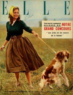 Mijanou Bardot en couverture de Elle n°567 du 5 novembre 1956 - photo Jean-Loup Sieff