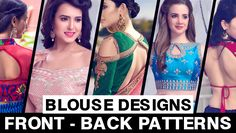 44 Types of Saree Blouses Front & Back Neck Designs - LooksGud. Blouse Back Neck Designs, Neckline Designs, Blouse Designs, Blouse Patterns, Corset Blouse, Saree Blouse, Saree Jacket Designs, Princess Cut Blouse, Blouse Styles