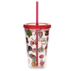 Fun for all the family at home, work or on holiday, our range of reusable double walled cups keep cold drinks cold. Printed with fun designs they are colourful and practical and come with a lid and reusable straw. Each cup holds 500ml. Our double walled cups keep cold drinks cooler for longer and are not suitable for use with hot liquids. The straw is not recommended for children under 5. Cup Height 15.5cm Width 10cm Depth 10cm Straw Length 23cm (approx 6 x 4 x 4 inches; straw 9 inches) Presents For Women, Unique Presents, Gifts For Mum, Home Gifts, Quirky Gifts, Unusual Gifts, Fun Drinks, Cold Drinks, Reusable Cup