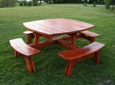 rustic picnic table   Reclaimed Barn Wood Furniture and Log Furniture by Vienna Woodworks