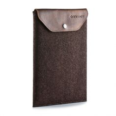 Felt and leather ipad case  www.stitchchicago.com