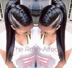 Braided ponytail hairstyles for black hair. braided ponytail hairstyles for black hair ponytails Braided Ponytail Hairstyles, Girl Hairstyles, Ponytails For Black Hair, Hairstyles For Black Hair, Braid Ponytail, Braided Updo, Braided Faux Hawk, Mowhawk Braid, Braided Ponytail Black Hair