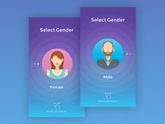 Gender Selection Screen