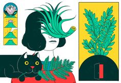 "cristinadaura:  "" Cats and Plants  Plants and Cats  and a volcano  """