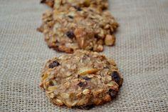 Healthy Breakfast Cookies-bananas, apple, raisins, oatmeal, apple juice, vanilla, and cinnamon! no butter, eggs...