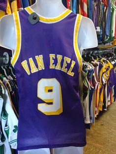 09a75cc5756 Vintage  9 NICK VAN EXEL Los Angeles Lakers NBA Champion Jersey 36