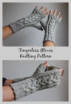Classic, cabled fingerless gloves knitting pattern in worsted weight yarn. Classic, cabled fingerless gloves knitting pattern in worsted weight yarn. Goes with anything, perfect for accessorizing. Designer Knitting Patterns, Knitting Patterns Free, Free Knitting, Baby Knitting, Fingerless Gloves Knitted, Crochet Gloves, Knit Mittens, Knit Crochet, Mittens Pattern